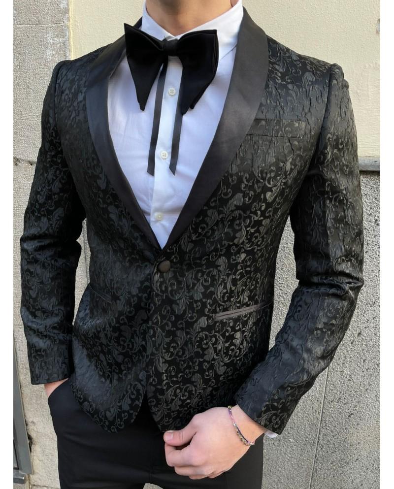 abito damascato nero