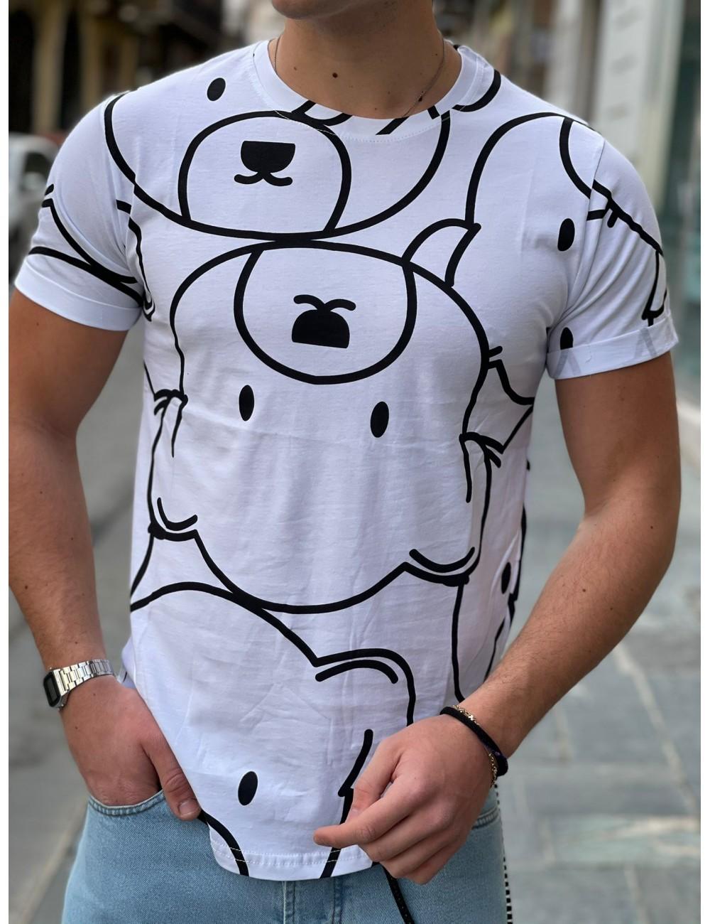 t shirt orsacchiotto bianca